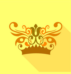crown decorative design elements icon vector image