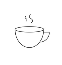 Cup coffee outline icon vector
