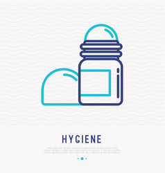 Deodorant thin line icon vector