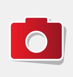 Digital camera sign new year reddish icon vector
