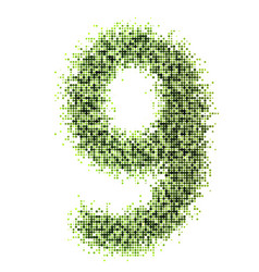 Dots style numbers vector