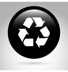 Ecology button design vector