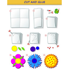educational page for children template vector image