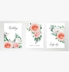 elegant watercolor floral card wedding invite vector image