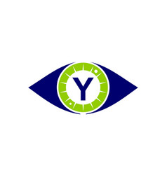 Eye care solutions letter y vector