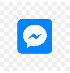 Facebook messenger social media icon design vector