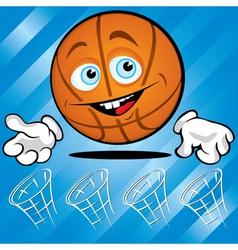 funny basket ball vector image