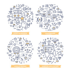 Gamification doodle vector