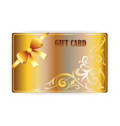 gold gift coupon gift card vector image