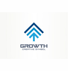 growth creative symbol concept profit increase vector image