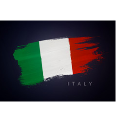 grunge flag italy italian flag brush design vector image