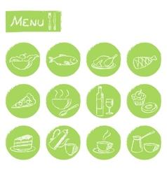 Hand drawn menu elements set vector image vector image