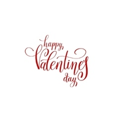happy valentines day handwritten red lettering vector image
