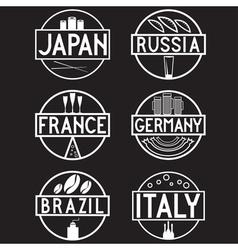 international food marks labels set vector image