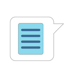 Isolated text message on a bubble chat vector