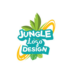 jungle logo design inspiration vector image