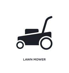 Lawn mower isolated icon simple element from vector