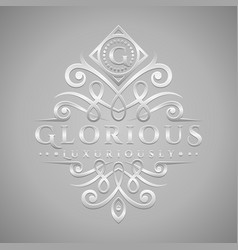 Letter g logo - classic luxurious silver vector