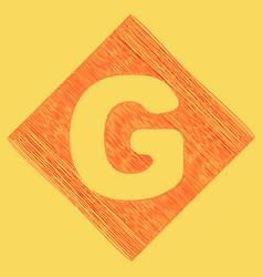 letter g sign design template element red vector image