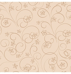 Light beige floral background - seamless pattern vector