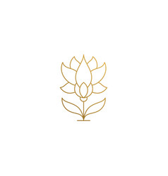 linear icon growing flower hand drawn with thin vector image