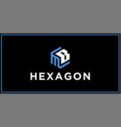 Mb hexagon logo design inspiration vector