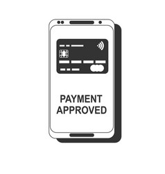 mobile payment nfc smart phone concept flat icon vector image
