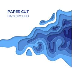 Modern sea ocean paper cut art design template vector