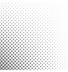 Monochrome stylized flower pattern - abstract vector