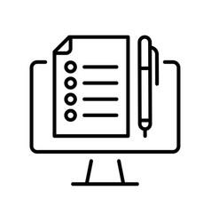 monochrome training program icon vector image