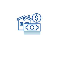 morgage home loan line icon concept morgage vector image