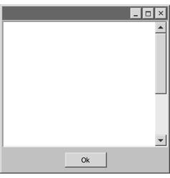 old school computer windows bar ok button vector image