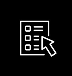 online survey line outline icon vector image