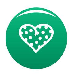 Pea heart icon green vector