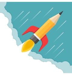 Pencil - Rocket vector