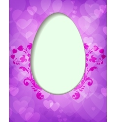 purple design with Easter egg vector image