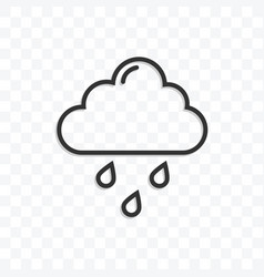 rain icon on transparent background vector image