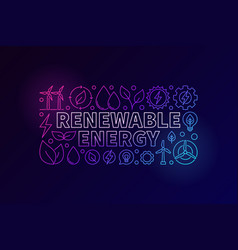 Renewable energy colorful banner vector