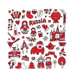 Russia icons collection Sketch for your design vector