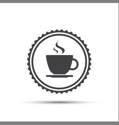simple round icon of coffee cup vector image