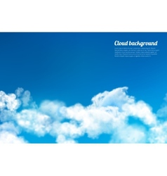 Sky clouds background vector