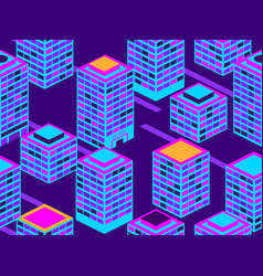skyscrapers seamless pattern isometric city vector image