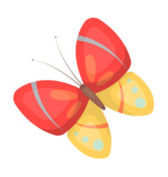 spring butterfly easter single icon in cartoon vector image