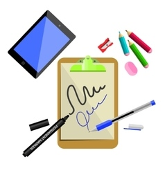 Stationery office supplies vector image