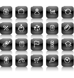 Stencil black buttons for business vector