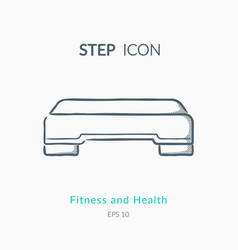 step icon on white background vector image