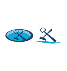 swimming pool cleaning service set vector image