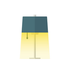 Table lamp flat icon with light vector