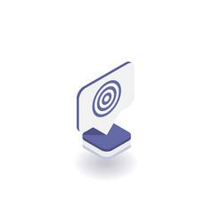 target icon symbol vector image