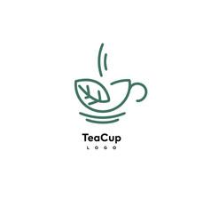 tea cup logo vector image